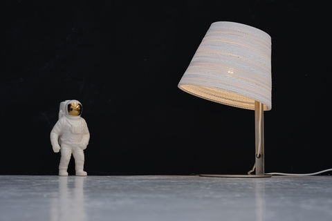 Recycled,Cardboard,Tilt,Table,Lamp,upcycled, recycled, reclaimed, greypants, cardboard, tilt, lamp, light, white, brown, table, unique, eco, quirky