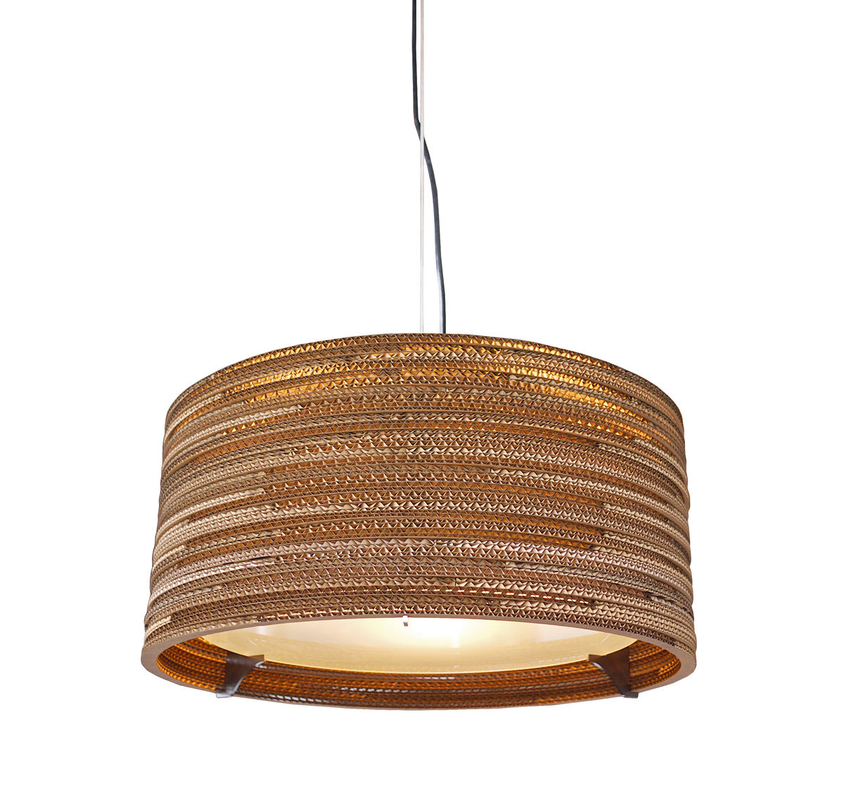 Recycled Cardboard Drum Pendant Light - product images  of