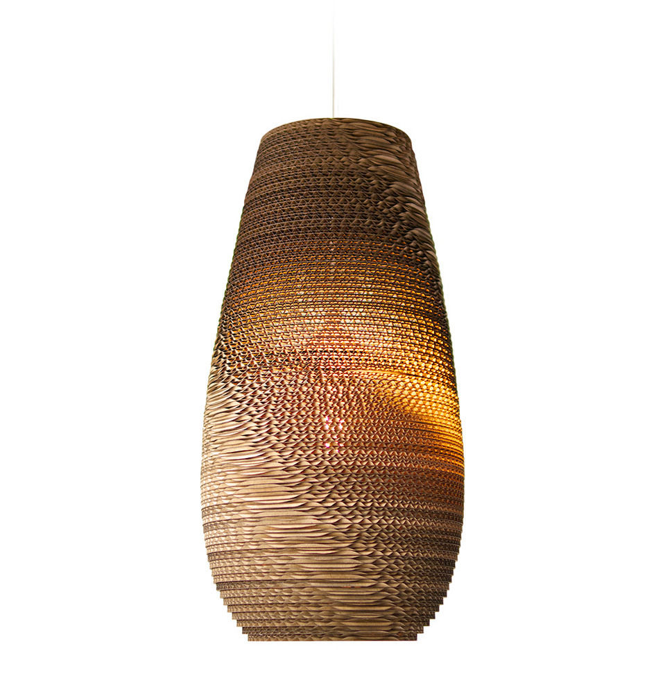 Recycled Cardboard Drop Pendant Light - product images  of