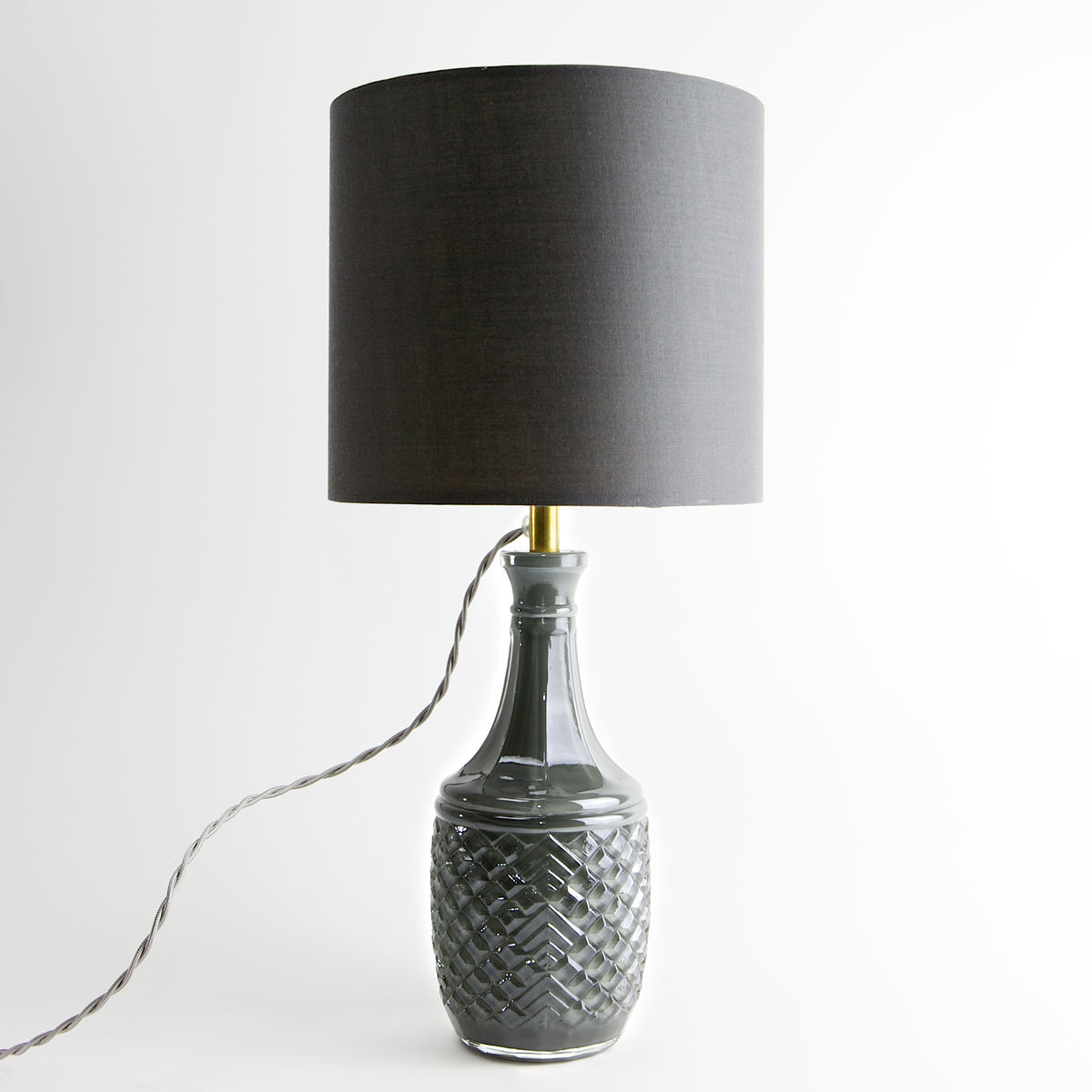 Grey Art Deco Geometric Decanter Lamp - product images  of