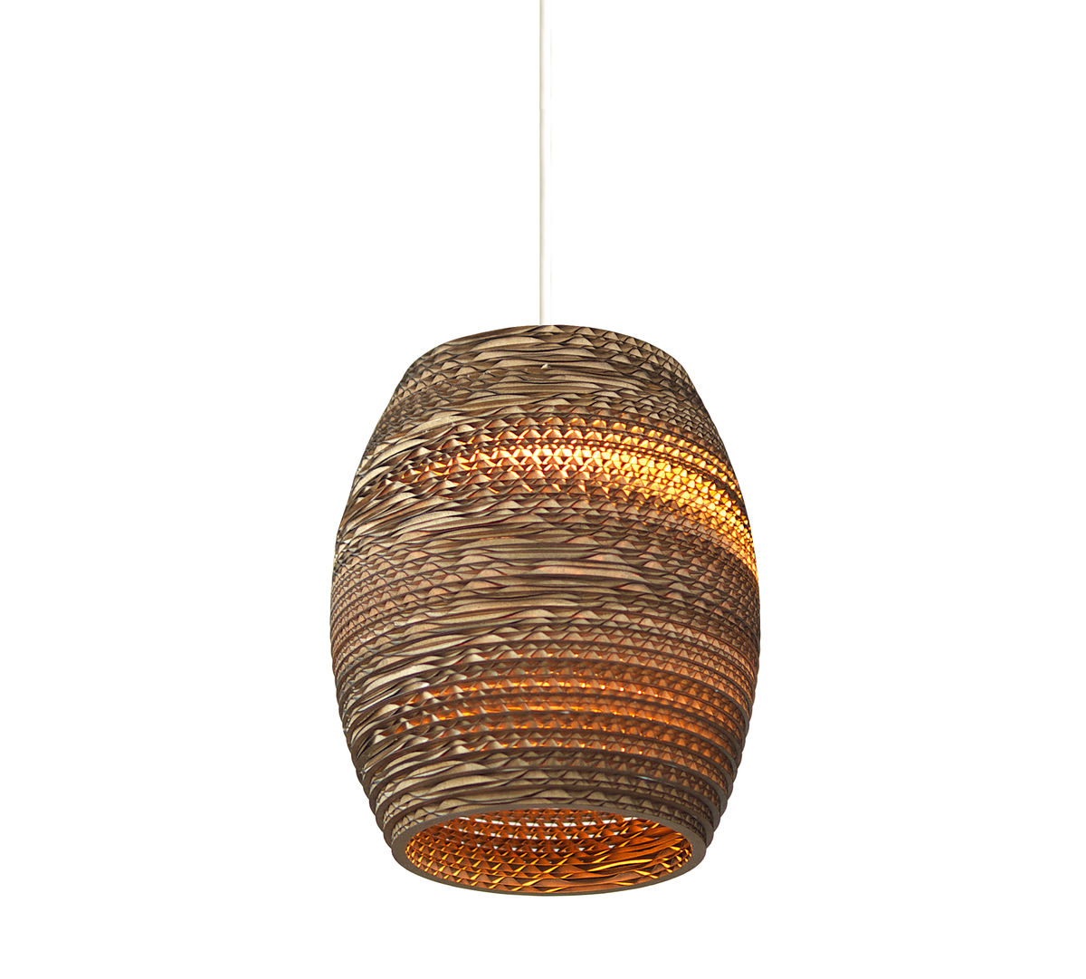 Recycled Cardboard Olive Pendant Light - product images  of