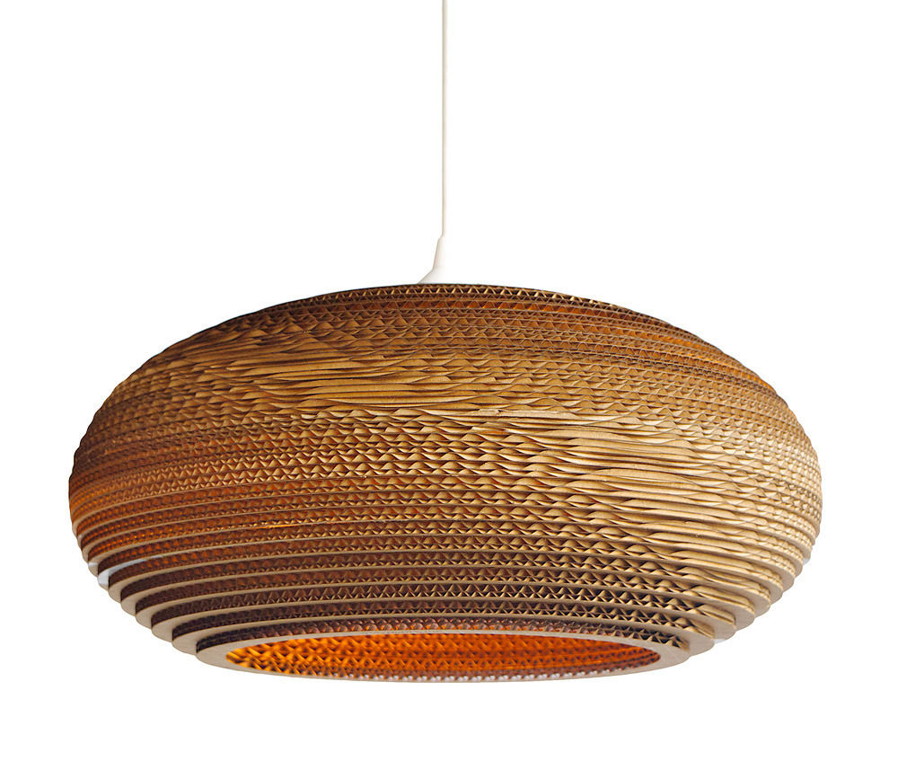 Recycled Cardboard Disc Pendant Light - product images  of