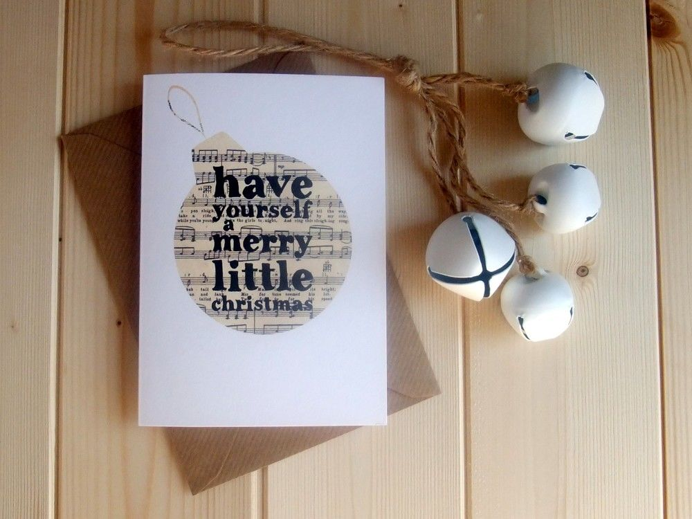 'Have yourself a merry little Christmas' Bauble Christmas Card - product image