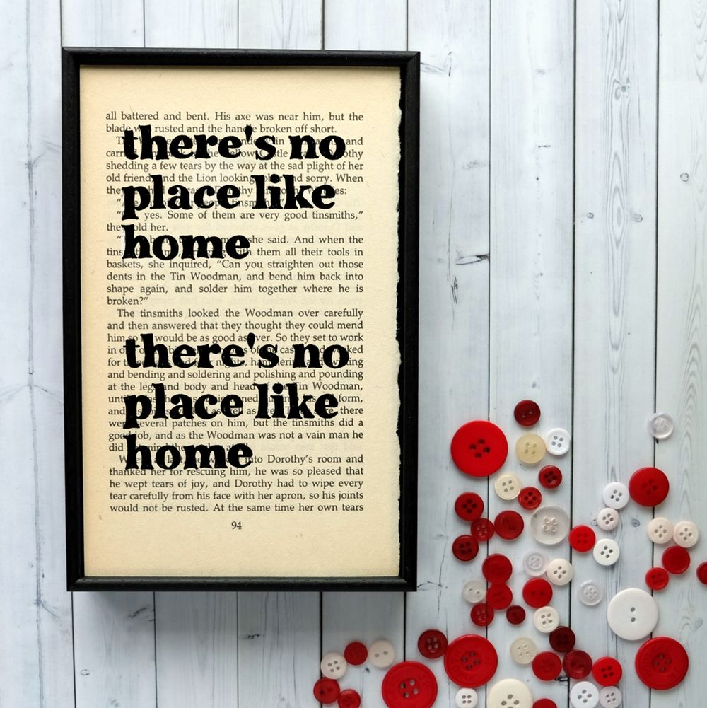 There's No Place Like Home - Wizard of Oz Print - product image