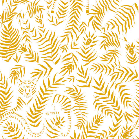 Jungle,Wallpaper,by,Coordonne,sustainable, eco, wallpaper, coordonne, jungle, painted, leaf, tiger, bold, unique