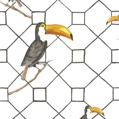 Max,Wallpaper,by,Coordonne,coordonne, wallpaper, eco, sustainable, max, bird, print, geometric, contemporary, jungle,