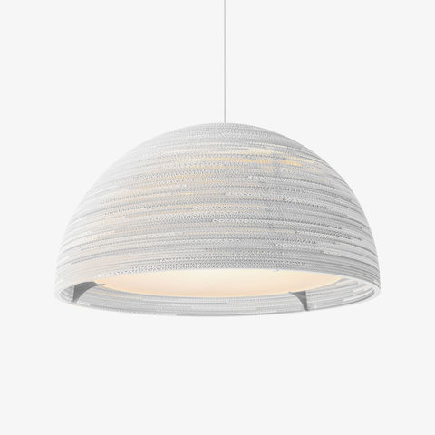Greypants,Dome,Recycled,Cardboard,Scraplight,greypants, scraplight, dome, natural, white, statement, pendant, light, recycled, cardboard, handmade,