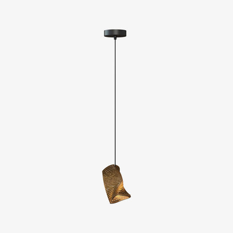 Greypants,Moa,Single,Recycled,Cardboard,Pendant,Light,greypants, recycled, scraplights, moa, single, pendant, light, cardboard, black, steel, beautiful, warm, contemporary, small