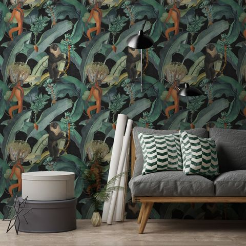 Mind,The,Gap,Bermuda,Wallpaper,mind the gap, bermuda,wallpaper, banana, leaf, tropical, eco friendly, fsc, green, non woven, paste the wall, uk