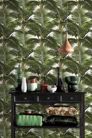 Mind,The,Gap,Jardin,Wallpaper,mind the gap, jardin, wallpaper, palm, print, tropical, greenery, eco, non woven, fsc, paste the wall