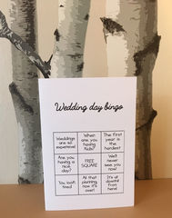 Wedding,or,engagement,bullshit,bingo,card,Paper Goods, bullshit, engagement, married, wedding, congratulations, blunt, best friend, same sex, sarcastic, funny, rude, card, cumbria