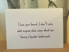 Hipster,Lumberjack,Beard,Card, card, lumberjack, hipster, beardy, birthday, anniversary, any occasion, valentine