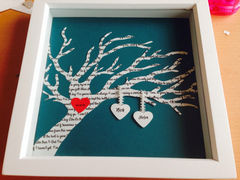 First,dance,lyrics,wedding,or,anniversary,print,Art,Collage,Digital,same_sex,Cumbria,quote,handmade,mandy_marsden,paper_cutting,first_dance,framed