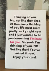 Thinking,of,you,funny,card,Paper_Goods,relative,friendship,bff,cheer_up,sorry,thinking_of_you,cumbria,sarcastic,rude,best_friend_,blunt