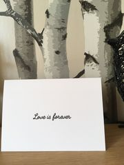 Love,is,forever,Card, bereaved, parent, daddy, dad, fathers, Father's Day, babyloss, grief, death, remembrance, angel baby