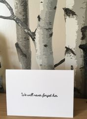 We,will,never,forget,her,Card, bereaved, parent, Father's Day, babyloss, grief, death, remembrance, angel baby, sympathy