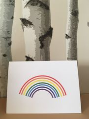 Rainbow,Card, same sex, gay, LGBT, LGBTQ, rainbow, rainbow baby, angel baby, congratulations, pregnancy, announcement, come out, coming out