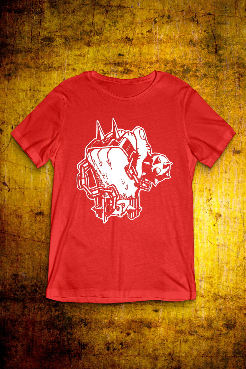 Classic Fist - White on Red T Shirt - Mens - product image
