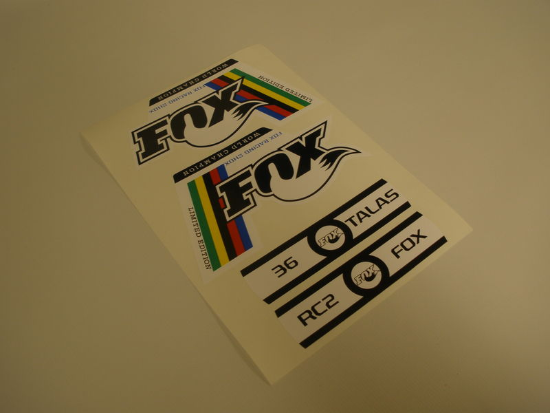 Fox World Champion Edition Fork Decals - product images  of