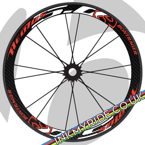 Bontrager,Aeolus,5.0,Wheel,Decals,Bontrager Aeolus 5.0 Wheel Decals stickers autocollants pegatinas adesivi Aufkleber adesivos klistermärken calcomanías