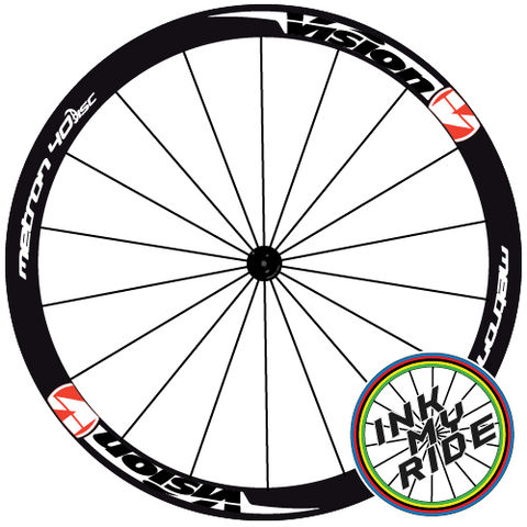 Vision,Metron,40,DISC,Wheel,Decals,Vision Metron 40 DISC Wheel Decals Stickers autocollants pegatinas adesivi Aufkleber adesivos klistermärken calcomanía Aufkleber rueda pegatinas autocollants ruota adesivi adesivos