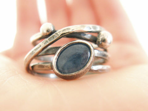Aquamarine,Silver,Wrapping,Ring,Aquamarine silver ring, wide silver band, handmade gemstone ring, artisan silver ring