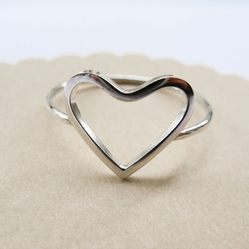 Well-liked Open Heart Ring - Misluo MJ98