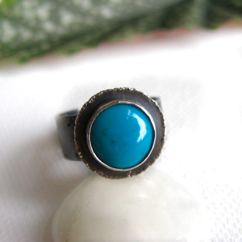 Turquoise,Ring,-,Life,OOAK,Jewelry,Artisan silver ring,turquoise silver ring, boho ring,cocktail ring,statement ring,misluo jewellery, wide band, unique jewllery UK, turquoise silver ring UK