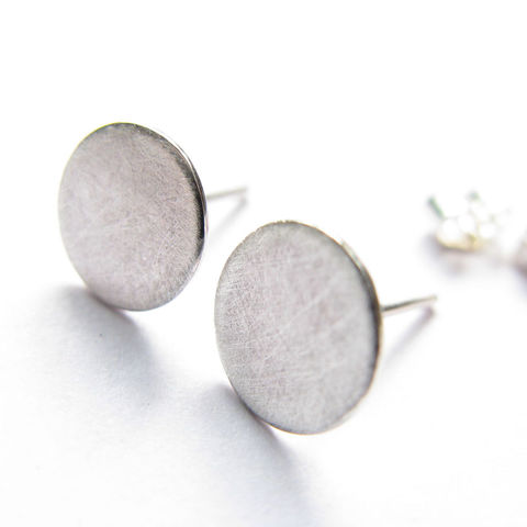 Full,moon,stud,earrings,misluo,sterling silver stud earrings, moon earrings,delicate earrings, minimalist jewellery, silver jewellery UK, gift for girl, unusual earrings, unusual jewellery, silver earrings UK