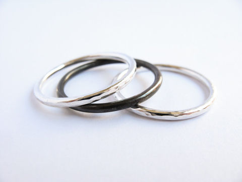 Three,Mix,Stacking,Rings,jewellery Jewelry,Ring,sterling silver ring set,misluo,stacking rings,simple ring,silver stacking ring,minimalist ring,simple silver rings,silver bands,oxidized rings, set of three rings