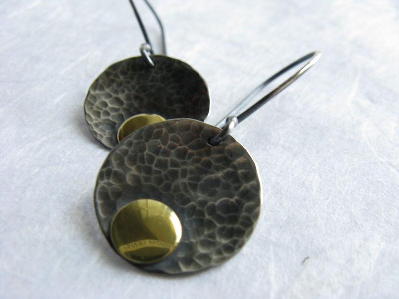 Hammered disc earrings - product images  of