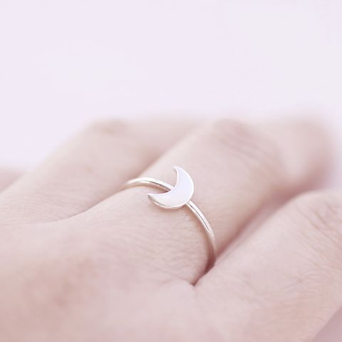 Silver,Crescent,Moon,Ring,moon silver ring, crescent moon ring,minimalist silver ring, moon phase band, Hammered Ring, modern silver ring, unusual silver ring, dainty silver ring, handmade silver ring, gift for women, handmade jewellery UK