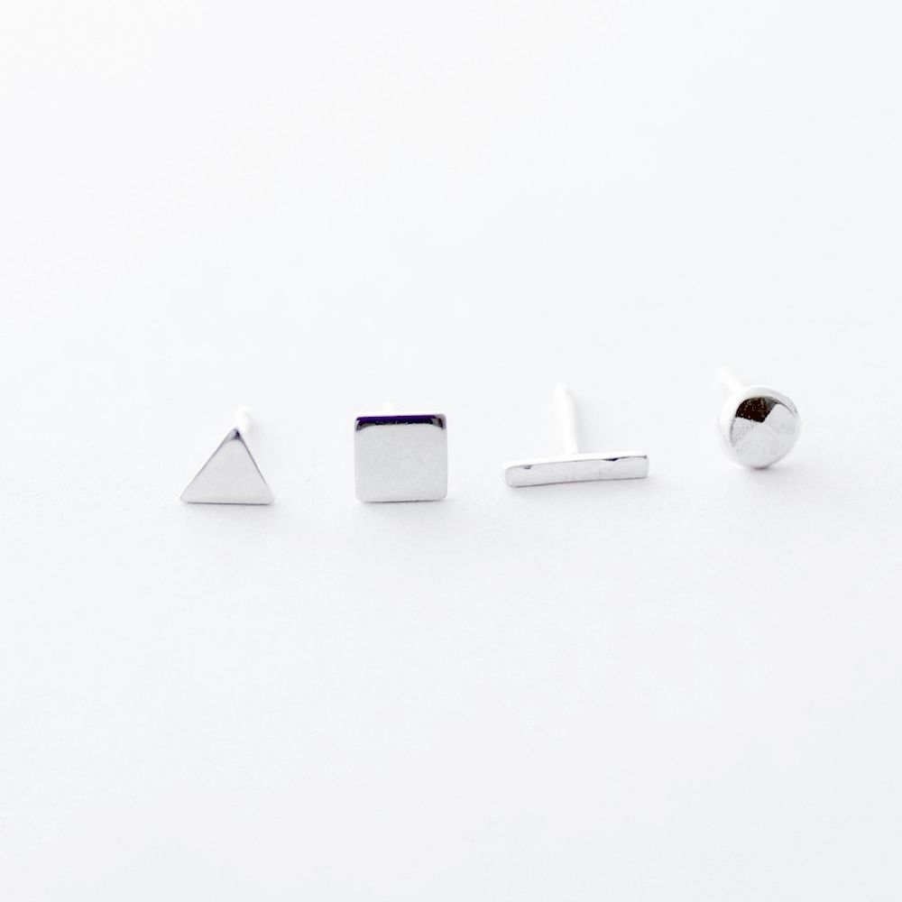 shape pinterest sparkly pin mismatched geometric stuff stud earrings
