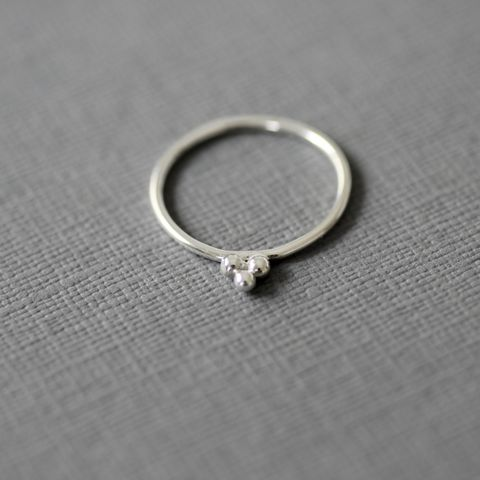 Trio,Balls,Silver,Ring,silver ball ring,minimalist silver ring, sterling silver ring, stacking rings,unusual silver ring, handmade silver ring, gift for women, handmade jewellery UK