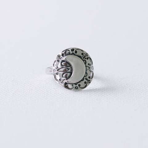 Moon,Shield,Silver,Ring, handmade silver ring, gift for women, moon shield ring, Large Celestial Ring, artisan jewelry, moon and sun ring, celestial ring, lunar ring