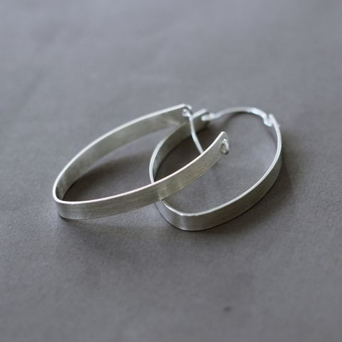 Sassy,Silver,Hoops,bold silver earrings, large silver hoop, everyday earrings, leaf silver hoops, statement silver earrings, organic silver earrings, handmade in UK, sterling silver earrings