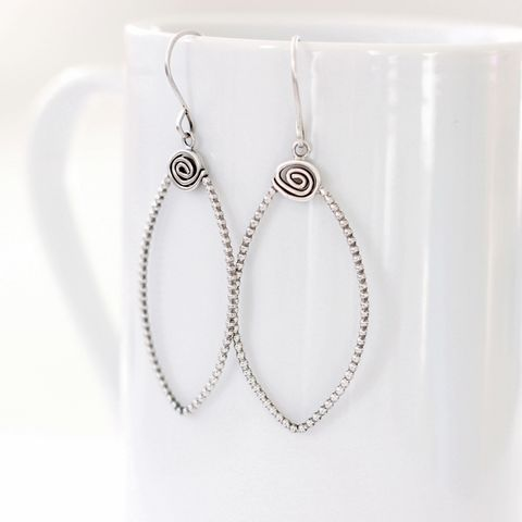 Falling,Petal,Sterling,Silver,Earrings,petal silver earrings, large silver hoop, unique design, leaf silver hoops, statement silver earrings, organic silver earrings, handmade in UK, sterling silver earrings