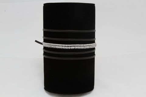 Ivy,Choker,black wrap choker, wrap choker, wrap around choker, black choker, choker, fancy choker, leather choker, faux leather choker, adjustable choker, sexy choker, fallon choker, bauble choker, fallon jewelry choker, zariana, zariana jewelry, zariana choker