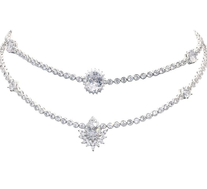 Marquis Cluster Adjustable Choker - product images  of