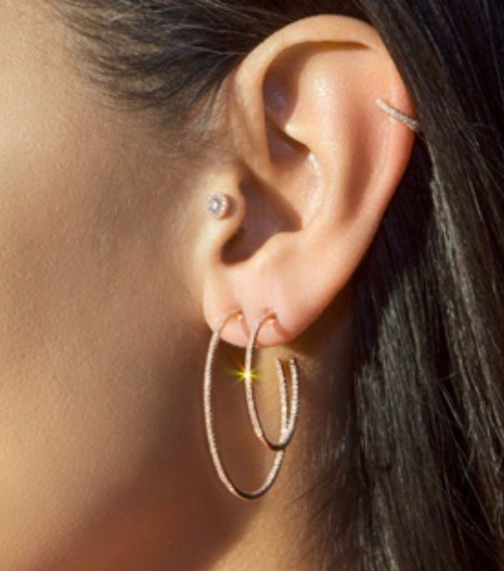 Large cz hoops - product images  of