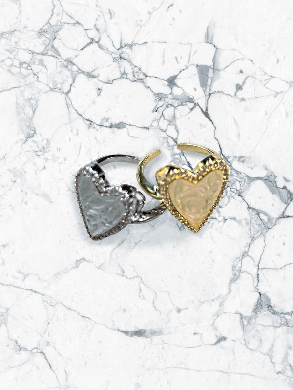 Adjustable heart ring - product images  of