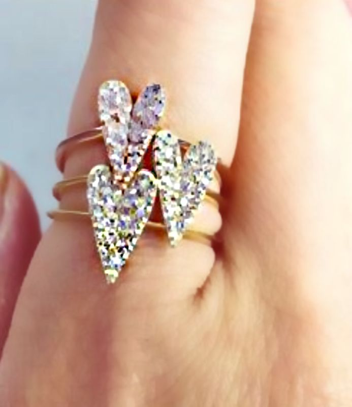 CZ Pave Heart Ring - product image