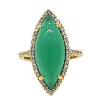 OVAL EMERALD RING - product image