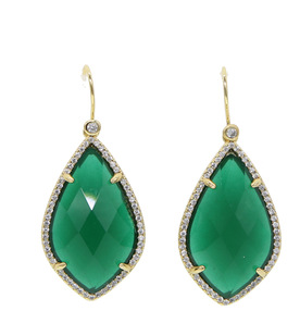 Crystal,Green,Earrings
