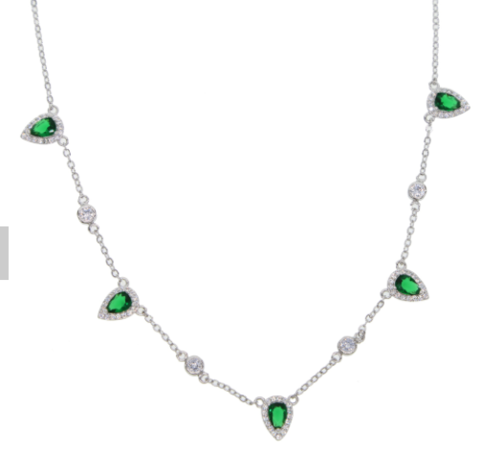 Crystal,Emerald,necklace