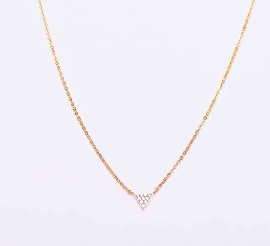 SINGLE CZ TRIANGLE - product image