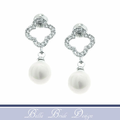 Gweneth,Bridal,Earrings,Weddings,pearl_earrings,wedding_earrings,pearl_jewelry,pearl_bridal_earring,crystal_earrings,jeweled_earring,bridesmaids_earrings,prom_earring,crystal_drop_earring,stud_earrings,evening_jewelry,prom_jewelry,pearl_prom_jewelry