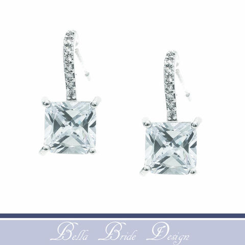 Gabriella,Bridal,Earrings,Weddings,Jewelry,crystal_earrings,crystal_jewelry,bridal_earring,bridal_jewelry,bridesmaid_earrings,bridesmaid_jewelry,square_cut_earring,stud_earring,drop_earrings,cz_earrings,cz_jewelry,zircon_earrings,zirconia_jewelry,cubic zirconia stones,white gold p