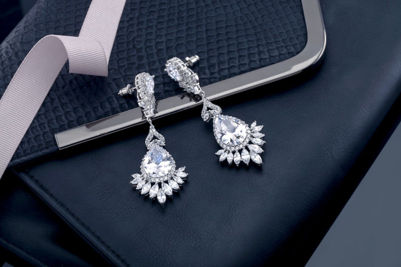 Courtney Bridal Earrings - product image