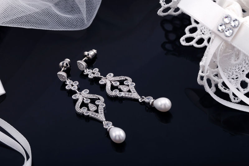 Alexandra Bridal Earrings - product image